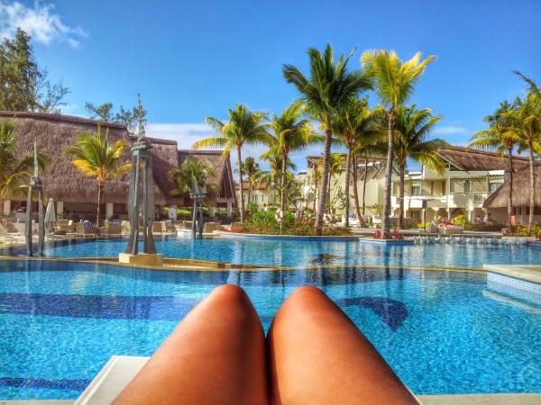 suntanning in mauritius
